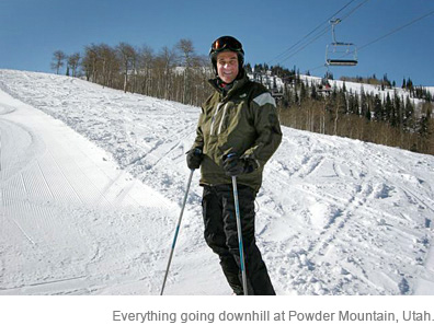 Everything going downhill at Powder Mountain, Utah