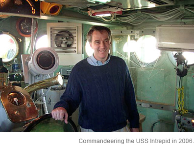 Commandeering the USS Intrepid in 2006